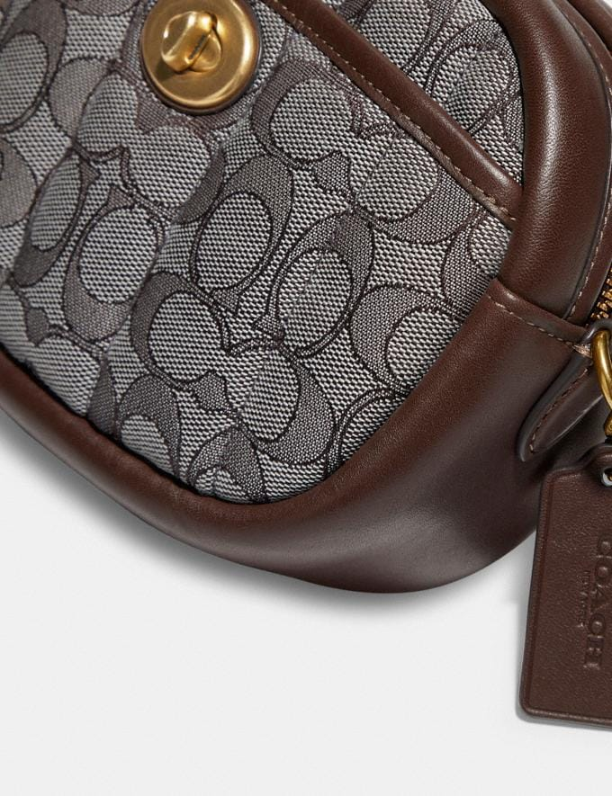 Coach Small Camera Bag in Signature Jacquard With Quilting B4/Oak Maple New Women's New Arrivals Bags Alternate View 4