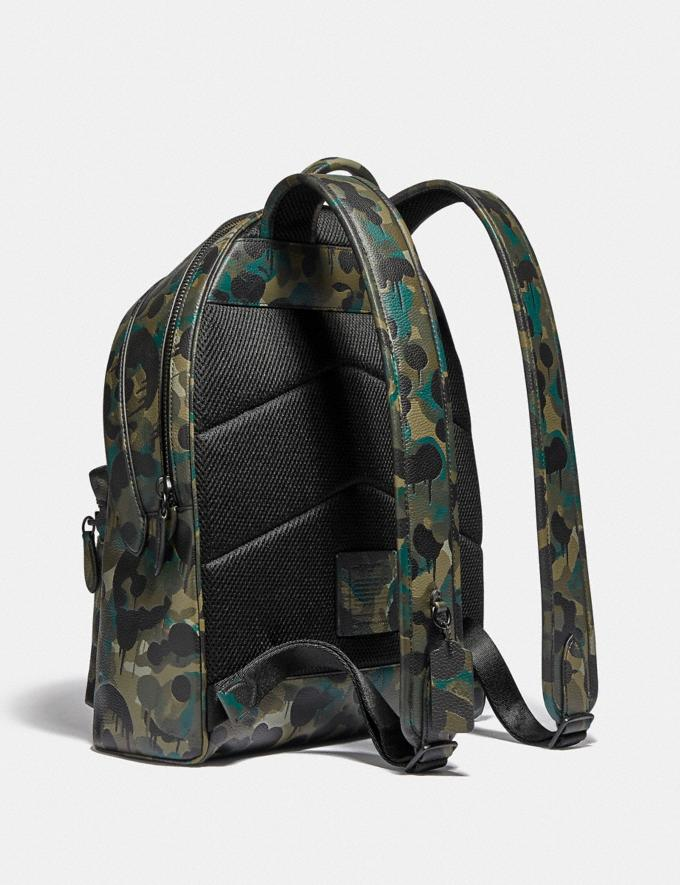 Coach Charter Backpack With Camo Print Matte Black/Green/Blue DEFAULT_CATEGORY Alternate View 1