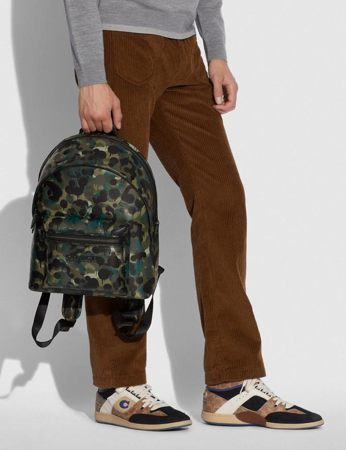 Coach Charter Backpack With Camo Print Matte Black/Green/Blue DEFAULT_CATEGORY Alternate View 4