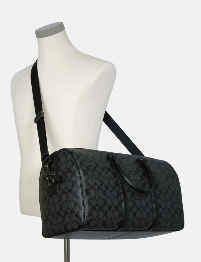 Coach Venturer Bag in Signature Canvas Qb/Charcoal/Black 8.1 Outlet Newness Alternate View 3