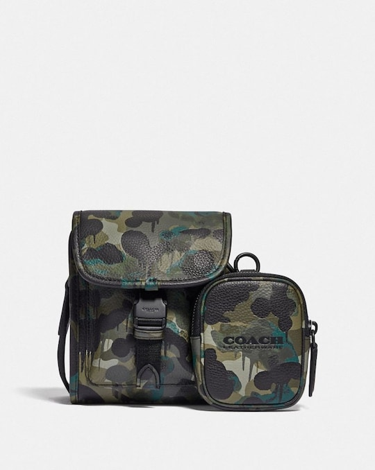 CHARTER NORTH/SOUTH CROSSBODY WITH HYBRID POUCH WITH CAMO PRINT
