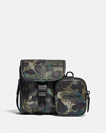 sac à bandoulière charter north/south avec pochette hybride et imprimé camouflage