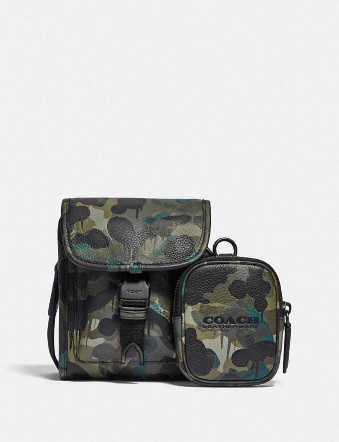 Coach Charter North/South Crossbody With Hybrid Pouch With Camo Print Green/Blue DEFAULT_CATEGORY