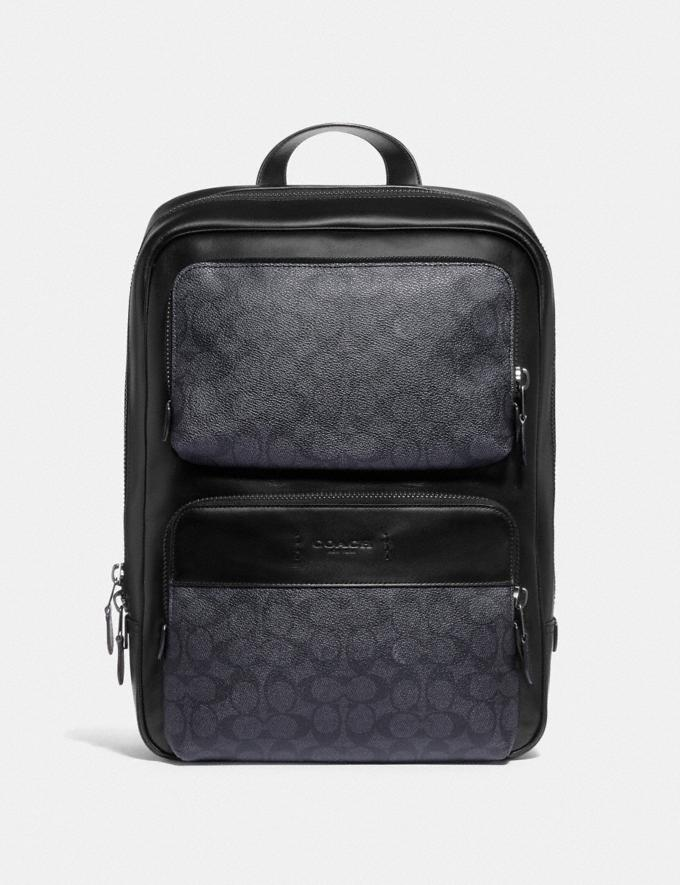 Coach Gotham Backpack in Signature Canvas Black Copper/Charcoal/Black DEFAULT_CATEGORY
