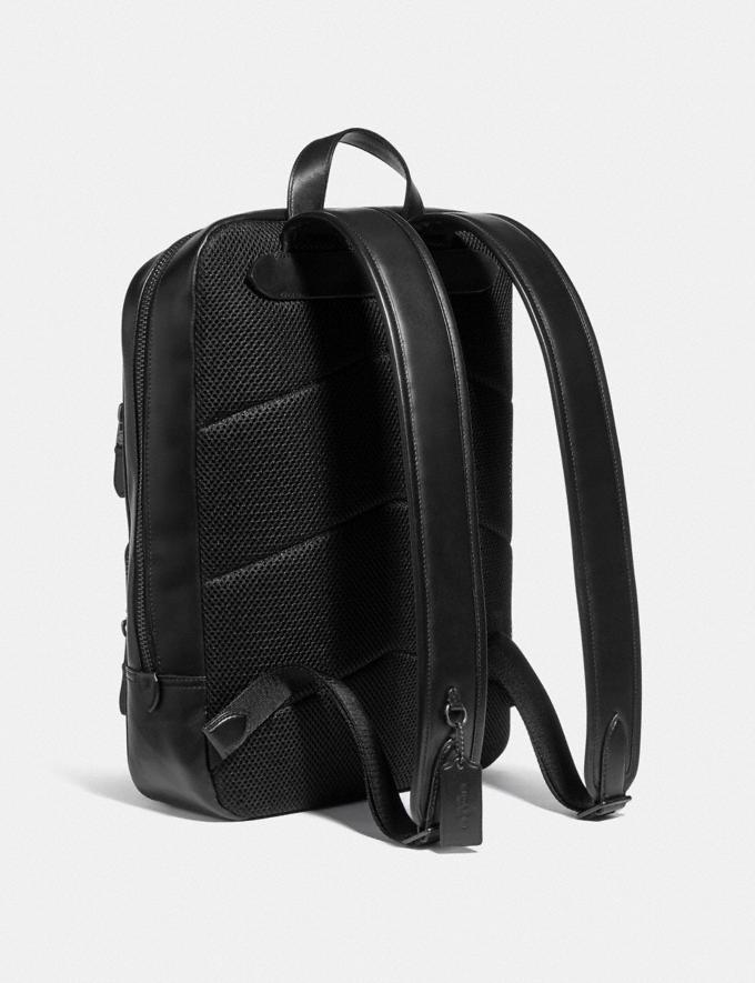 Coach Gotham Backpack in Signature Canvas Black Copper/Charcoal/Black DEFAULT_CATEGORY Alternate View 1