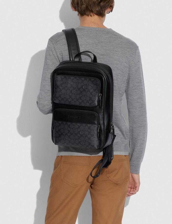 Coach Gotham Backpack in Signature Canvas Black Copper/Charcoal/Black DEFAULT_CATEGORY Alternate View 4