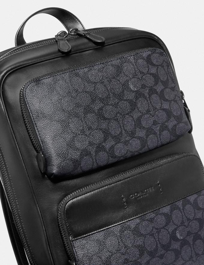 Coach Gotham Backpack in Signature Canvas Black Copper/Charcoal/Black DEFAULT_CATEGORY Alternate View 5