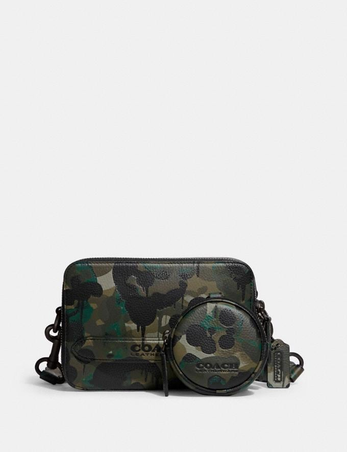 Coach Charter Crossbody With Hybrid Pouch With Camo Print Green/Blue DEFAULT_CATEGORY