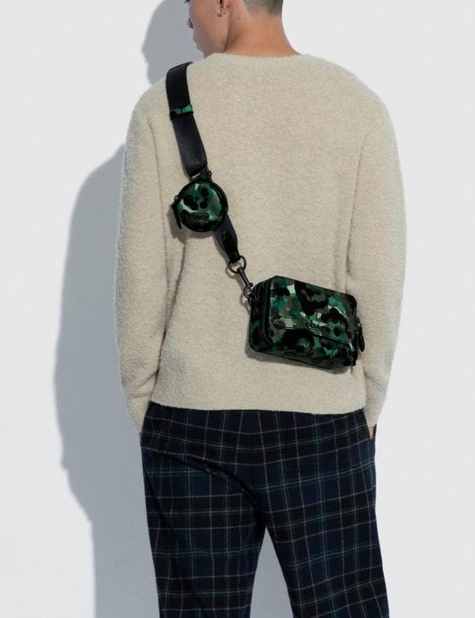 Coach Charter Crossbody With Hybrid Pouch With Camo Print Green/Blue DEFAULT_CATEGORY Alternate View 4