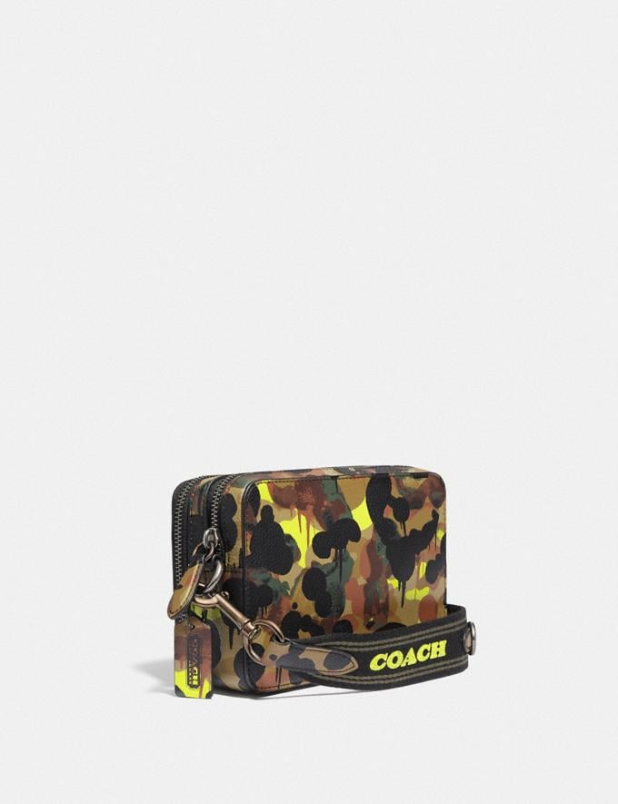 Coach Charter Crossbody With Hybrid Pouch With Camo Print Neon/Yellow/Brown 8.1 newness Alternate View 1