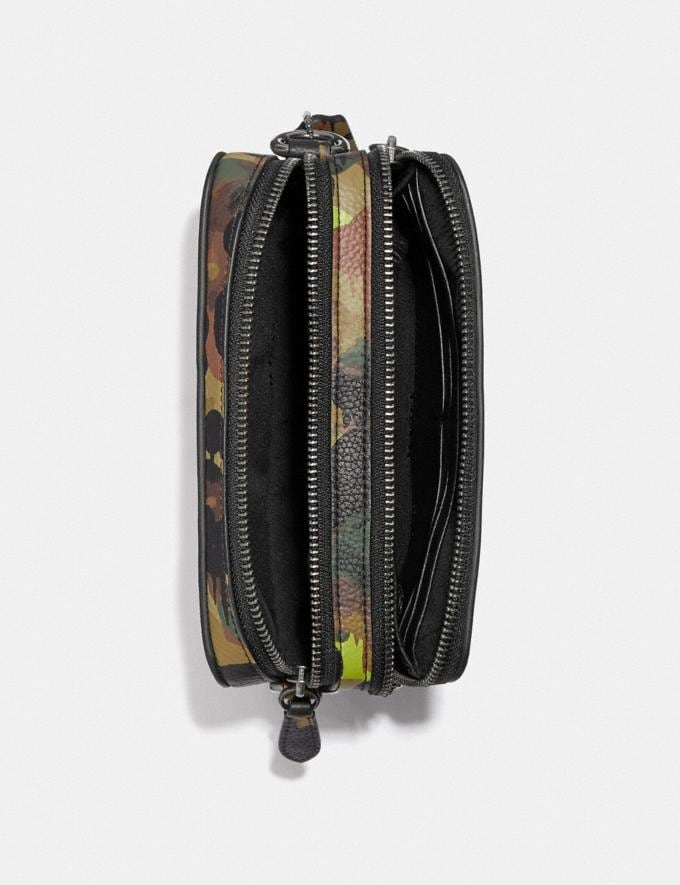 Coach Charter Crossbody With Hybrid Pouch With Camo Print Neon/Yellow/Brown 8.1 newness Alternate View 2