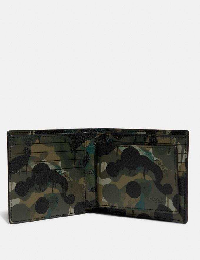 Coach 3-In-1 Wallet With Camo Print Green/Blue 8.1 newness Alternate View 1