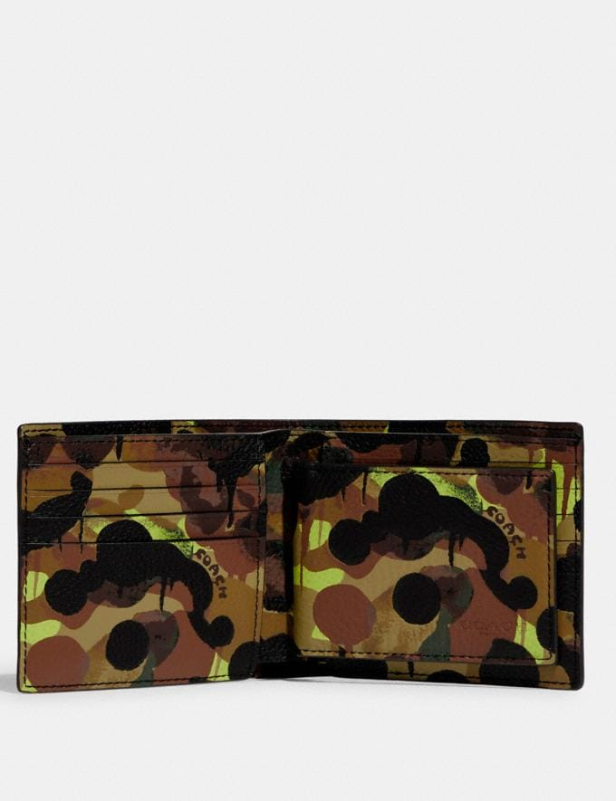 Coach 3-In-1 Wallet With Camo Print Neon/Yellow/Brown DEFAULT_CATEGORY Alternate View 1