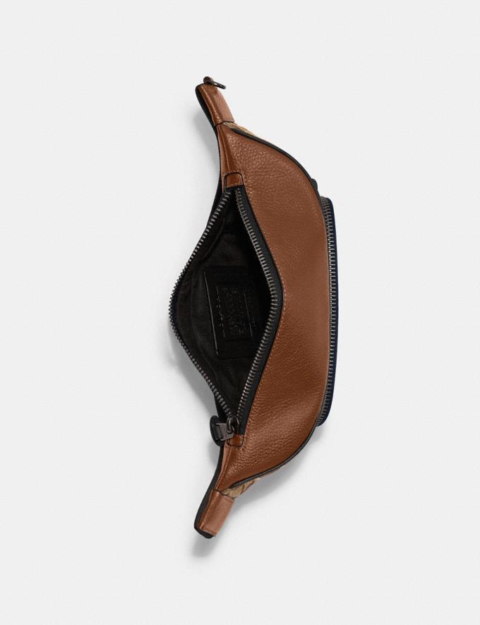 Coach Thompson Belt Bag in Signature Jacquard With Varsity Stripe Qb/Khaki Butterscotch Multi DEFAULT_CATEGORY Alternate View 2