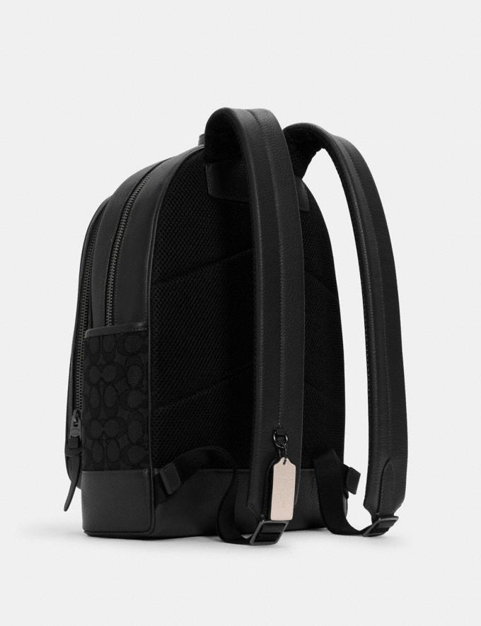 Coach Thompson Backpack in Signature Jacquard With Varsity Stripe Qb/Black Elm Multi DEFAULT_CATEGORY Alternate View 1