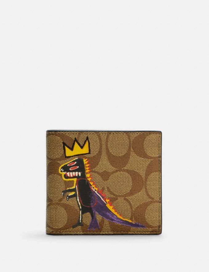 Coach Coach X Jean-Michel Basquiat Coin Wallet in Signature Canvas Qb/Khaki Multi Translations 9.1 Basquiat Outlet Newness