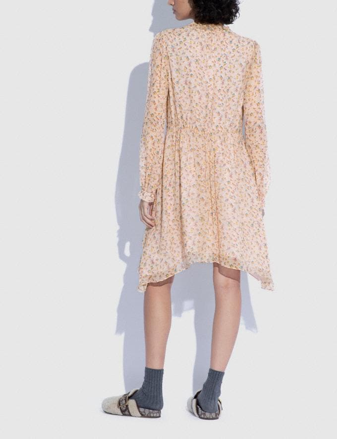Coach Printed Short Day Dress Pale Pink/Brown 8.1 newness Alternate View 2