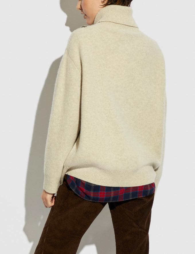 Coach Horse and Carriage Sweater Oat 8.1 newness Alternate View 2