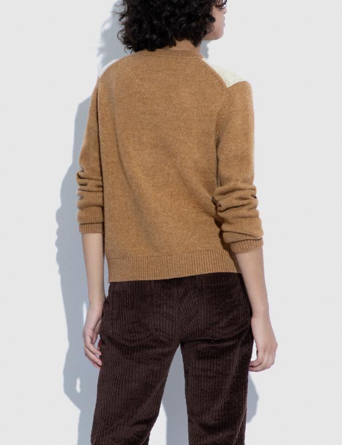 Coach Block Landscape Sweater Camel. 9.1-newness Alternate View 2