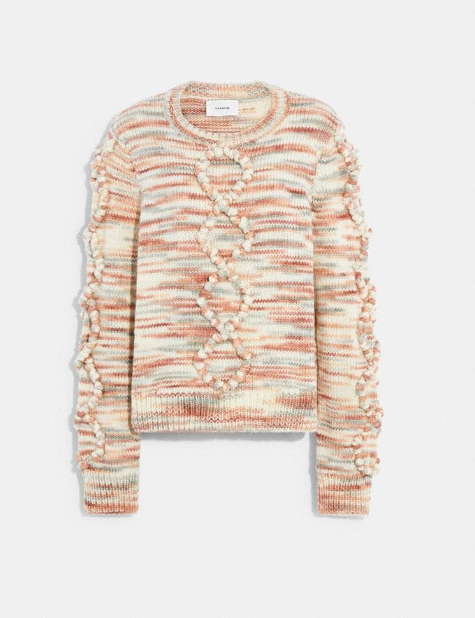 Coach Space Dye Bobble Sweater Rose 9.1-newness