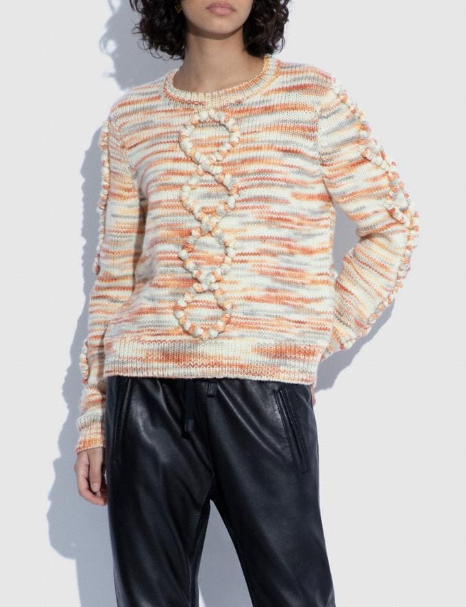 Coach Space Dye Bobble Sweater Rose 9.1-newness Alternate View 1