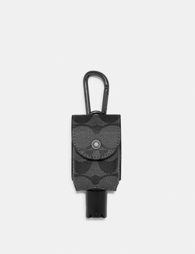Coach Hand Sanitizer Holder in Signature Canvas Qb/Charcoal 8.1 Outlet Newness