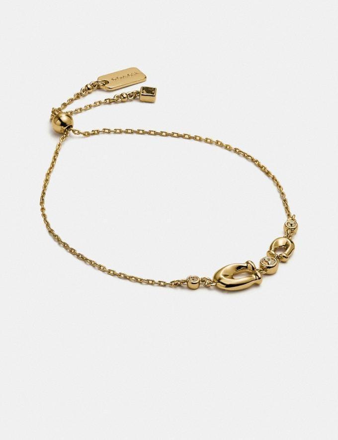 Coach Signature Crystal Slider Bracelet Gold/Clear