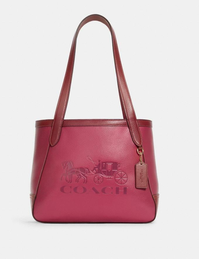 Coach Tote 27 in Colorblock With Horse and Carriage Im/Bright Violet Multi 8.1 Outlet Newness