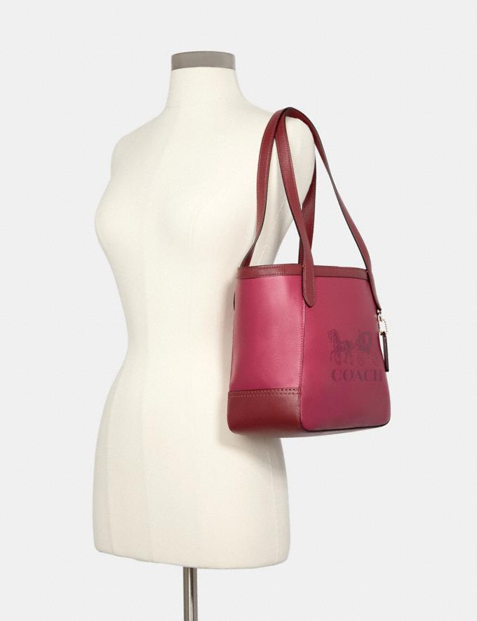 Coach Tote 27 in Colorblock With Horse and Carriage Im/Bright Violet Multi 8.1 Outlet Newness Alternate View 3