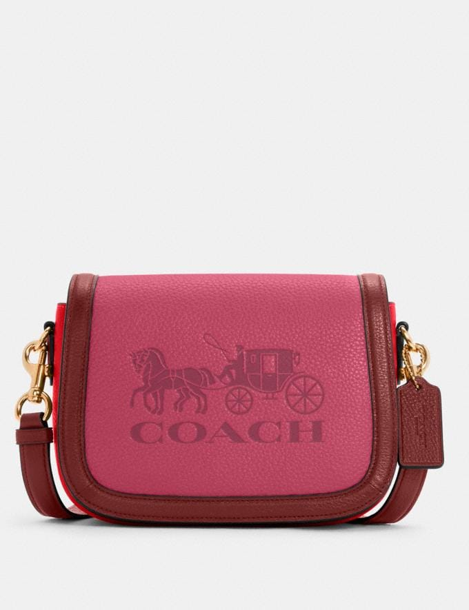 Coach Saddle in Colorblock With Horse and Carriage Im/Bright Violet Multi 8.1 Outlet Newness