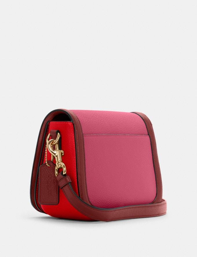 Coach Saddle in Colorblock With Horse and Carriage Im/Bright Violet Multi 8.1 Outlet Newness Alternate View 1