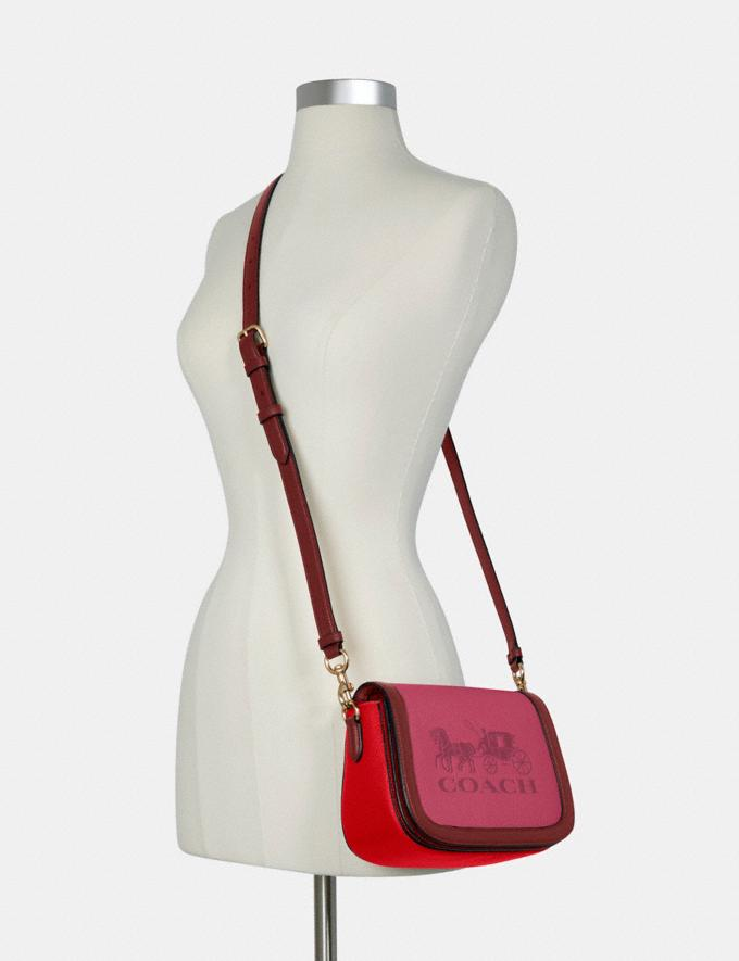 Coach Saddle in Colorblock With Horse and Carriage Im/Bright Violet Multi 8.1 Outlet Newness Alternate View 3