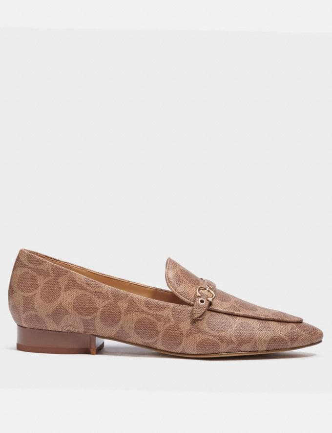 Coach Isabel Loafer Tan  Alternate View 1