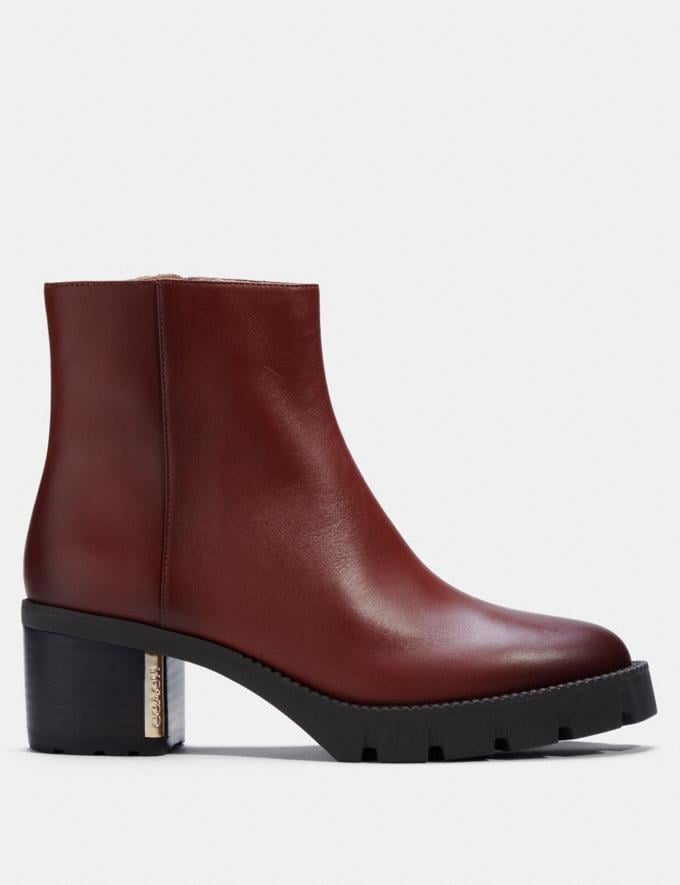 Coach Chrissy Bootie Red Mocha  Alternate View 1