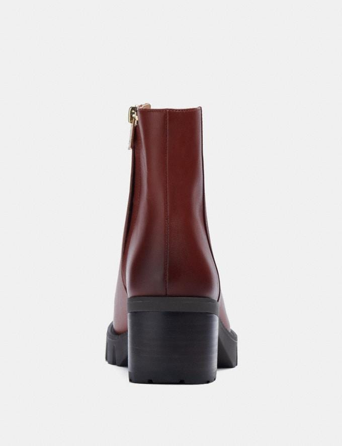 Coach Chrissy Bootie Red Mocha  Alternate View 3