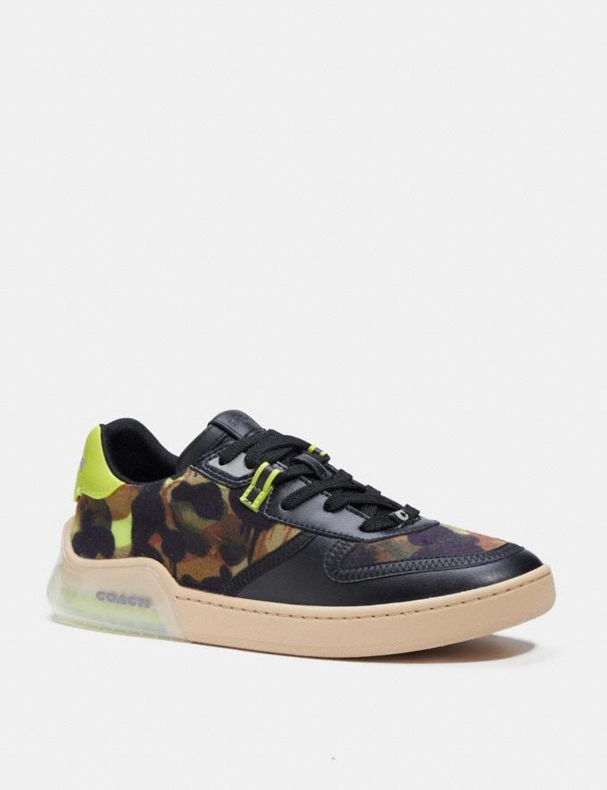 Coach Citysole Court Sneaker Mit Camouflage-Print Schwarz Neongelb