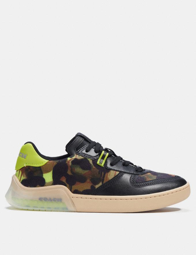 Coach Citysole Court Sneaker Mit Camouflage-Print Schwarz Neongelb  Alternative Ansicht 1