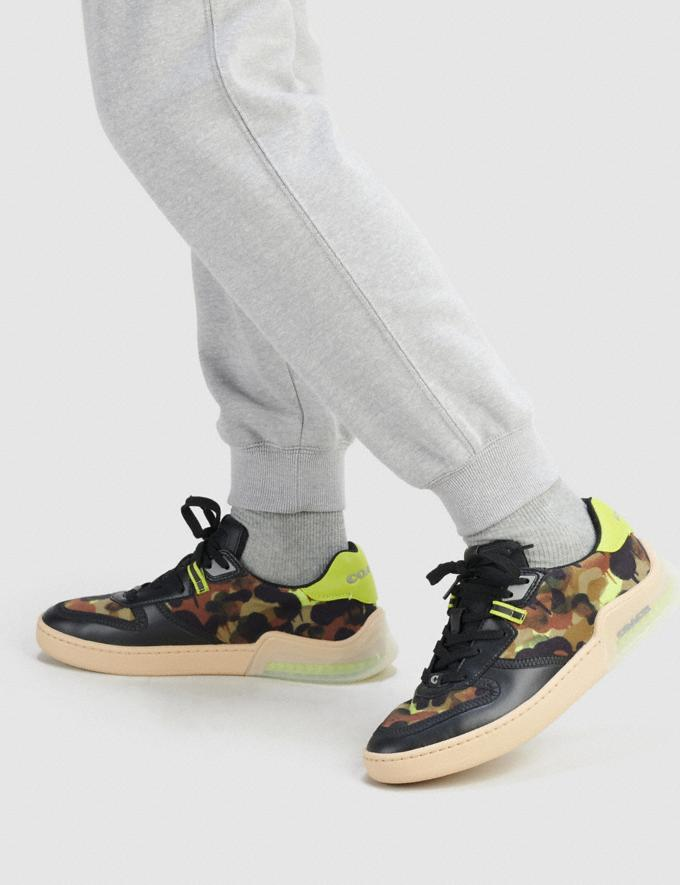 Coach Citysole Court Sneaker Mit Camouflage-Print Schwarz Neongelb  Alternative Ansicht 4