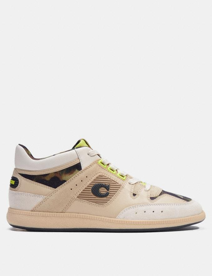 Coach Citysole Mid Top Sneaker With Camo Print Oyster Chalk  Alternate View 1