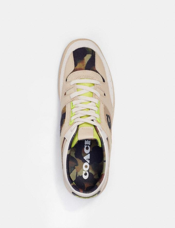 Coach Citysole Mid Top Sneaker With Camo Print Oyster Chalk  Alternate View 2