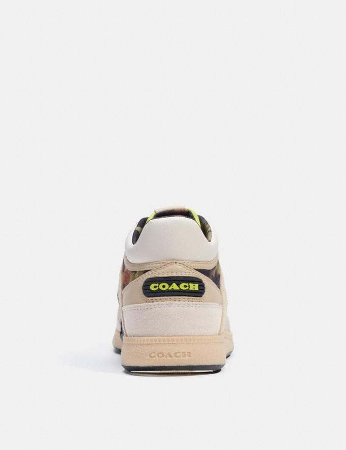 Coach Citysole Mid Top Sneaker With Camo Print Oyster Chalk  Alternate View 3