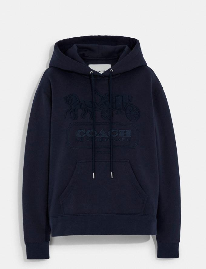 Coach Horse and Carriage Hoodie in Organic Cotton and Recycled Polyester Navy