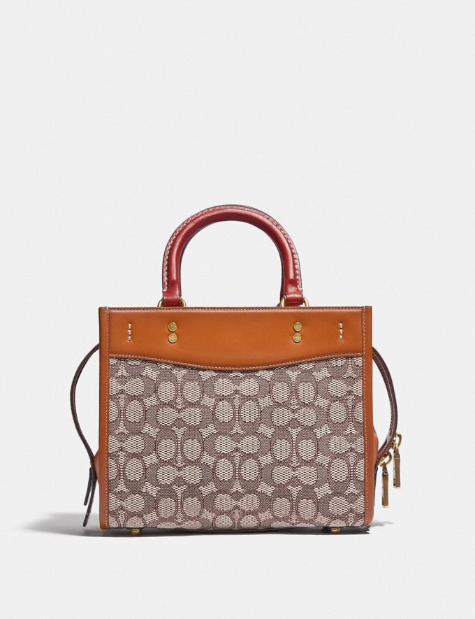 Coach Rogue 25 in Signature Textile Jacquard With Embroidered Elephant Motif B4/Cocoa Burnished Amb  Alternate View 2