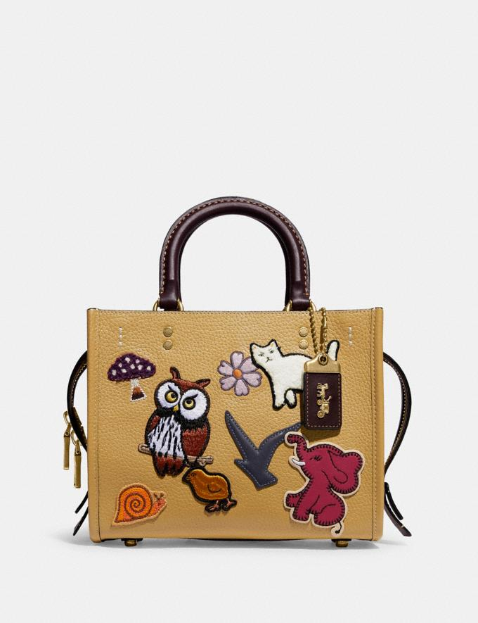 Coach Rogue 25 With Creature Patches B4/Light Tan Multi