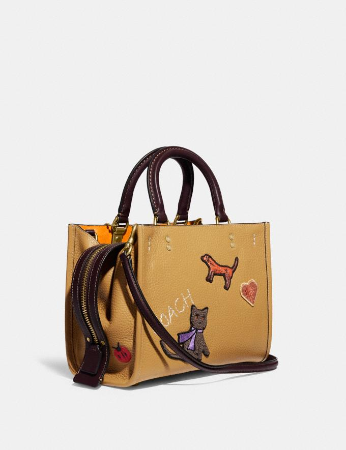 Coach Rogue 25 With Creature Patches B4/Light Tan Multi  Alternate View 1