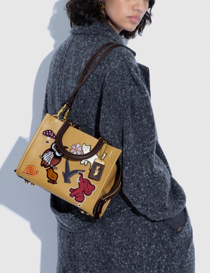 Coach Rogue 25 With Creature Patches B4/Light Tan Multi  Alternate View 4