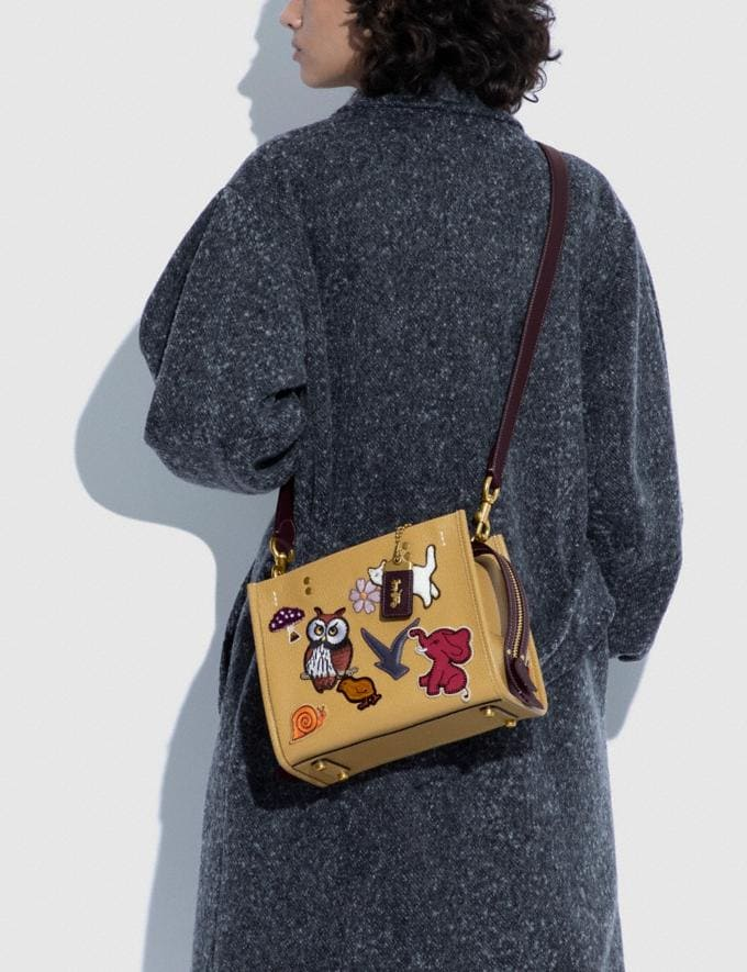 Coach Rogue 25 With Creature Patches B4/Light Tan Multi  Alternate View 5