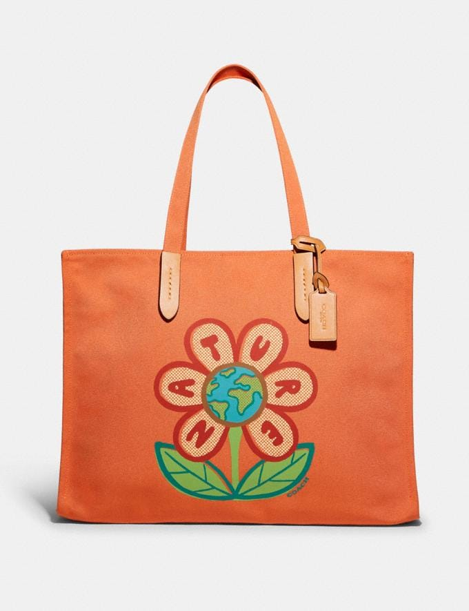 Coach 100 Percent Recycled Tote 42 B4/Canyon 9.1-newness