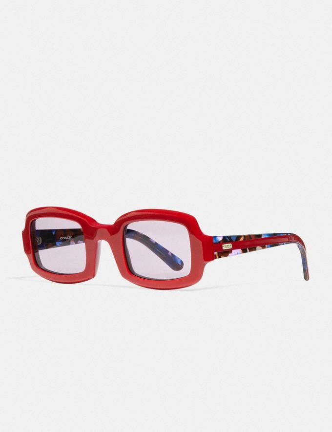 Coach Rectangle Frame Sunglasses Red. Translations 6.1-Otheroutlet