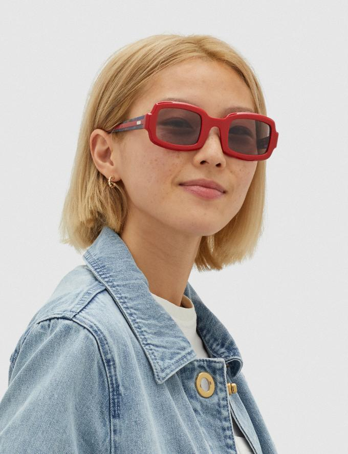 Coach Rectangle Frame Sunglasses Red. Translations 6.1-Otheroutlet Alternate View 1
